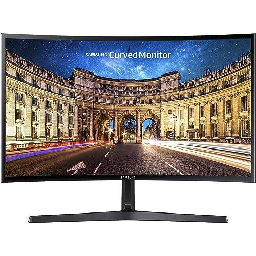 """Samsung Monitor C24F396 Curvo da 24"""", Pannello VA, Full HD 1,920 x 1,080 pixel, 4 ms, Freesync, 1 HDMI port, 1 D-Sub port, Game Mode, Flicker Free, Eye Saver Mode, Nero, Versione 2021"""