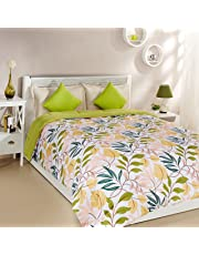 Amazon Brand - Solimo Microfibre Printed Comforter, Double (Autumn Leaves, 200 GSM)