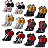 MOCOCITO Calcetines Tobilleros Mujer Calcetines Mujer Calcetines Divertidos 6/12 Pares Calcetines Estampados Calcetines Corto