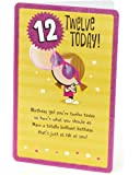 Age 12 Birthday Card - Ideal Gift Card for Kids - Girls Birthday Card - Gift for Her - Birthday Card for 12 Year Old