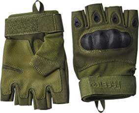 FREETOO Taktische Handschuhe Motorrad Handschuhe Herren Vollfinger Handschuhe mit Gepolstertem Rückenseite geeignet für Airsoft Militär Paintball Motorrad Fahrrad und andere Outdoor Aktivitäten