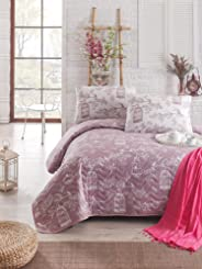 Eponj Home Single Quilted Bedspread Set - Quilted Cover(Padded): 160 x 220 cm Pillowcase: 50 x 70 cm (1 Piece)