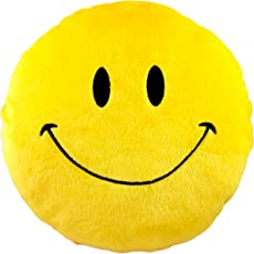 Now-N-New Smiley Cushion, Yellow