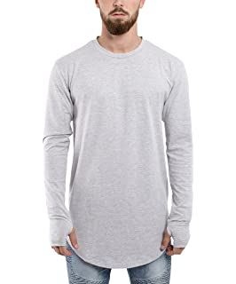 Blackskies Longline T-Shirt Mens Long Shirt Print BS Baseball Style Fashion