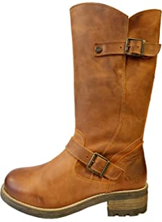 Oak /& Hyde Crest Brown Womens Casual Comfort Premium Leather Calf Boots