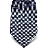 Vincenzo Boretti cravatta elegante classica da uomo, 8 cm x 15 cm, di pura seta di alta qualità, idrorepellente e antisporco,