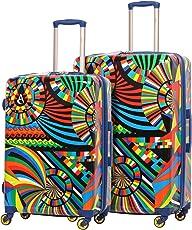 Aerolite Leichtgewicht Polykarbonat Hartschale 4 Rollen Gepäckset Reisegepäck Trolley Koffer, 3 teiliges Set, 55cm Handgepäck + 69cm + 79cm, Karneval