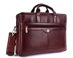 HAMMONDS FLYCATCHER Unisex Leather Laptop Messenger Bag (Brown, 15.6, 15, 14, 13-inch)