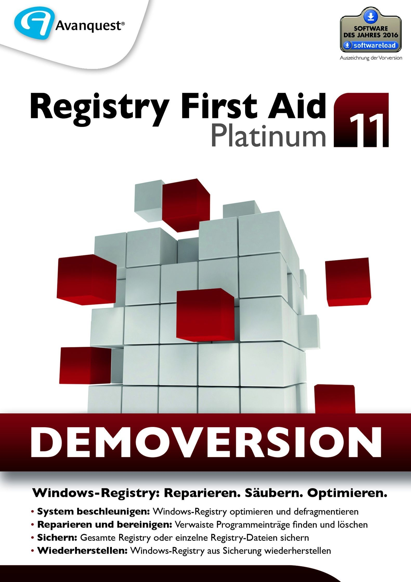 Registry First Aid 11 Platinum - Kostenlose Demoversion! Windows 10|8|7|Vista|XP [Download]