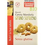 Germinal Bio Biscotti Carota Mandorla Grano Saraceno - 8 confezioni da 250gr - 2000 gr, Senza glutine