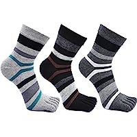 Mens Five Finger Toe Socks Cotton Running Mini Crew Socks