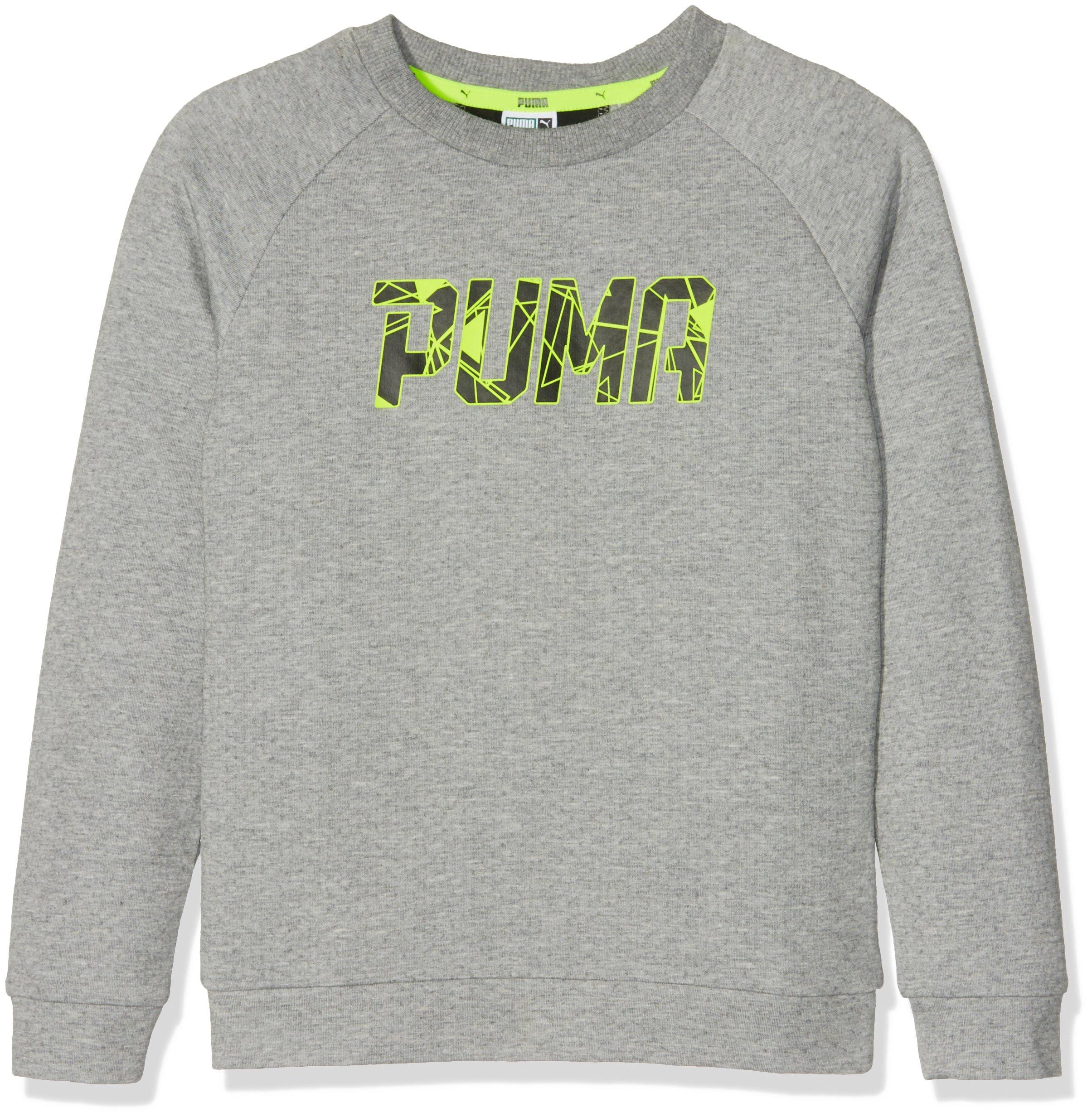Puma Sports Style Crew Sweat, Felpa Unisex Bambini, Grigio (Medium Gray Heather), 128