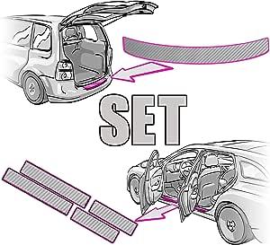 Einstiegsleisten Set Ladekantenschutz Rakel Anleitung In 3d Carbon Silber Folie Passende Schutzfolie Von Ccw Auto