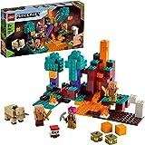 LEGO21168MinecraftTheWarpedForestNetherSpeelsetmetHuntress,PiglinenHoglin,speelgoedvoorkinderenvanaf8jaar