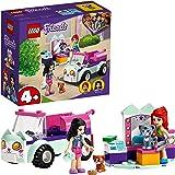 LEGO 41439 Friends Verzorgingsauto Set met Kittens, Emma en Mia Mini Poppetjes, Speelgoed Auto voor Meisjes en Jongens vanaf