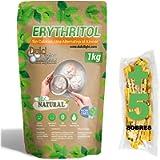 DulciLight Eritritolo 1kg 100% Naturale | 5 buste regalo di dolcificante Bruno. | DulciLight Il sapore naturale dello…