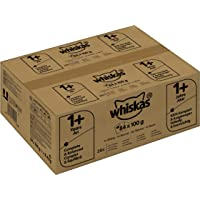 Whiskas Katzen-/Nassfutter Adult 1+ Geflügelauswahl in Sauce (84 x 100g)