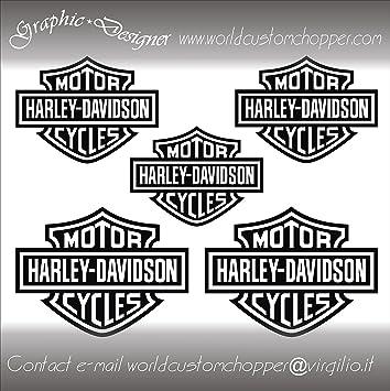 DECAL STICKERS BAR AND SHIELD HARLEY DAVIDSON MOTORCYCLE CUSTOM - Motorcycle custom stickers and decals uk