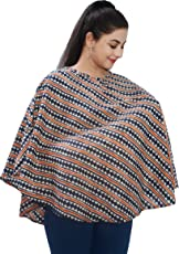 Mum's Caress Premium Cotton Nursing Covers/Feeding Cover/Maternity Top/Baby Cover - Blue Orange