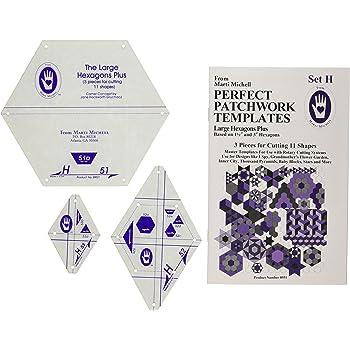 Marti Michell perfekt groß Vorlage Patchwork Sechseck Set H, 3 Stück ...