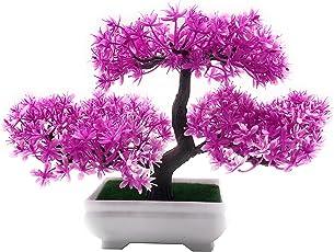 Bonsai Artificial Dwarf Tree ~ Artificial Plants with Pot and Grass Ideal for Home Décor. with Realistic Detailing Size - 20cm x 24cm (Pot - 11cm x Breath 7cm)