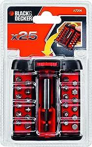BLACK+DECKER A7206 Set per Forare e Avvitare, 26 Pezzi