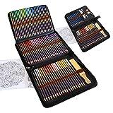Kit Dibujo Completo 96 piezas - Principiantes o profesionales, Estuche de 72 Lapices Colores, 12 Lapices de Dibujo y Accesori