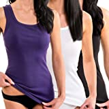 HERMKO 1325 3er Pack Damen Longshirt ideal für drüber und drunter (Weitere Farben)