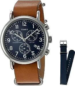 Timex Orologio Analogico Quarzo da Uomo con Cinturino in Pelle TW2P624009J