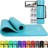MSPORTS Gymnastikmatte Premium inkl. Tragegurt + Übungsposter + Workout App I Hautfreundliche Fitnessmatte 190 x 60, 80…