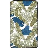 Amazon Basics, Tappetino in schiuma, con stampa, motivo foglie - 60 x 100 cm