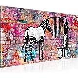 Schilderijen Banksy Wassen Zebra Een Stukje Modern Fleece Niet-geweven Canvas Huiskamer Hal Street Art Kleurrijk 012912c