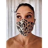 Mascherina Unisex Lavabile 100% cotone leopardato MARRONE