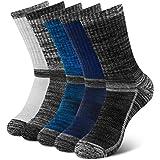 Alwaylax Mens Socks 5 Pairs Running Socks Wicking Breathable Cushioned Sports Socks Comfortable Hiking Socks Multipack Walkin