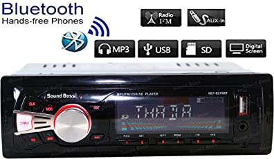 Sound Boss SB-405 Bluetooth Wireless With Phone Caller ID Receiver Car Media Player (Single Din)