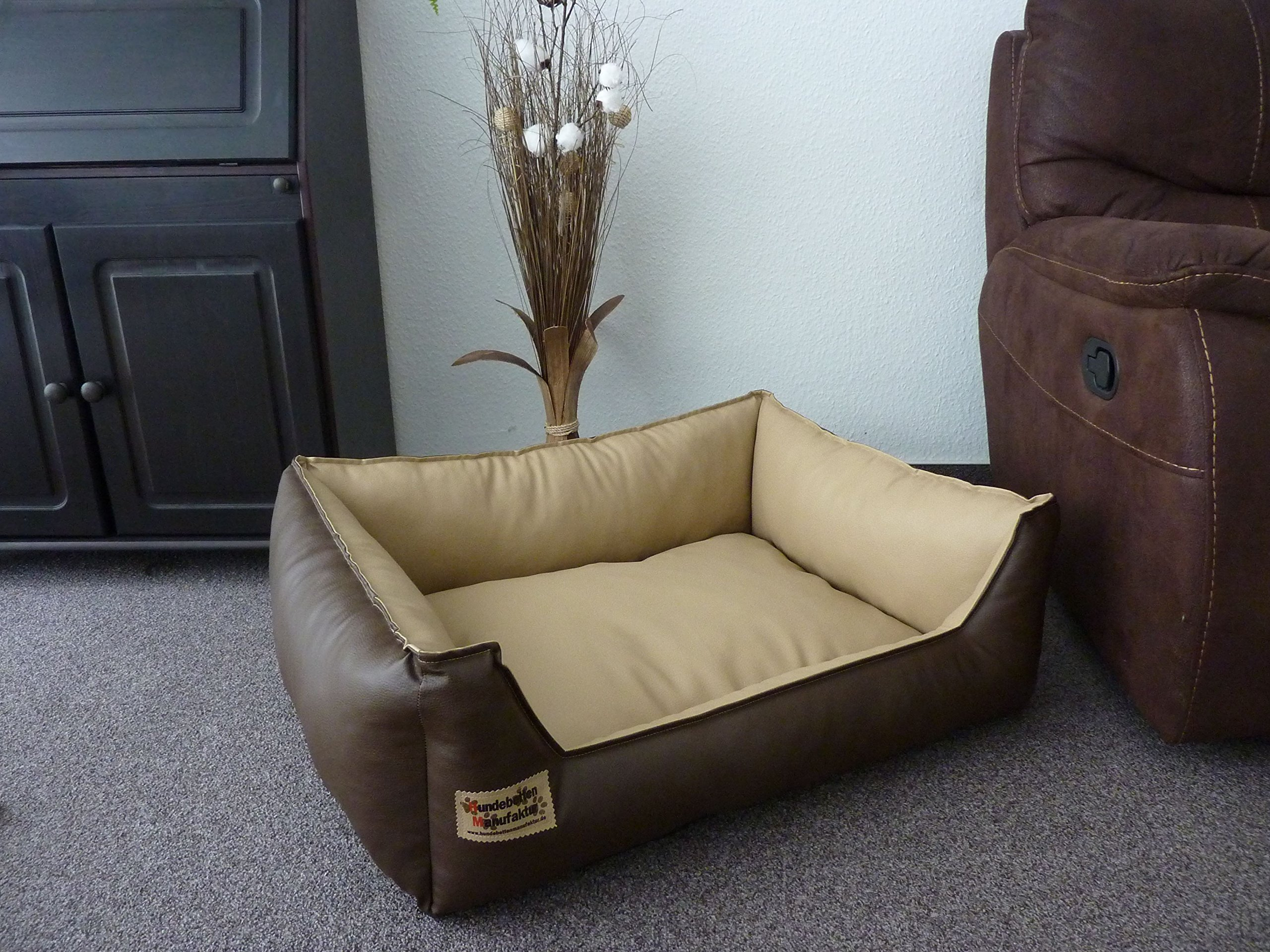 Similpelle Dog Bed//Sofa Artificial Leather 70 cm X 50 cm
