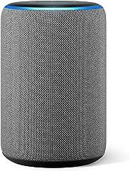 Der neue Amazon Echo (3. Generation), smarter Lautsprecher mit Alexa, Hellgrau Stoff