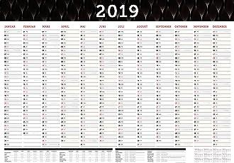 Großer Wandkalender 2019 abwischbar in DIN A1 (84 x 59,4 cm) gefalzt, fürs Büro.: Wandplaner, Jahreskalender XXL für 12 Monate 2019. Jahresplaner groß ... gesetzlichen Feiertage und Vorschau für 2020