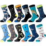 Belloxis Novelty Mens Socks 9-11 Funny Funky Fun Socks Gifts for Men