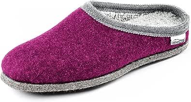 Orthopant Pantofole in Feltro Donna - Feltro e cottone per Una Sensazione Speciale di naturalezza e Comfort - Naturali, traspirabili, Antiscivolo - qualità Artigianale dall'Alto Adige