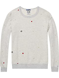 Maison Scotch Damen Pullover Crew Neck Graphic Sweat 143663