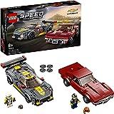 LEGO 76903 Hastighetsmästare Chevrolet Corvette C8.R Racerbil och 1968 CC Racerbilar leksaker för 8 år, 2 sportmodeller byggs