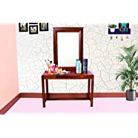 Furniseworld Solid Sheesham Wood Dressing Table with 1 Drawer Storage for Living Room Bedroom Home Wooden Furniture…