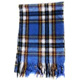 KGM Accessories Bufanda escocesa escocesa de diseño italiano súper suave, bufandas de tartán para hombres y mujeres