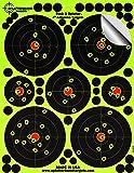 """25Pack-10,2cm """"Stick & Splatter"""" Splatterburst Klebend Reaktive Schussziele - Sehen Sie Ihre Schüsse aufbrechen helles fluoreszierendes Gelb beim Aufprall - Ausgezeichnet für alle Schusswaffen, Gewehre, Pistolen, Luftgewehre und Airsoft"""