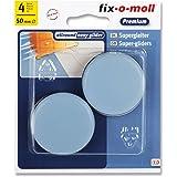 fix-o-moll Universal PTFE glijder 50 mm 4 stuks zelfklevend grijs, 3566483