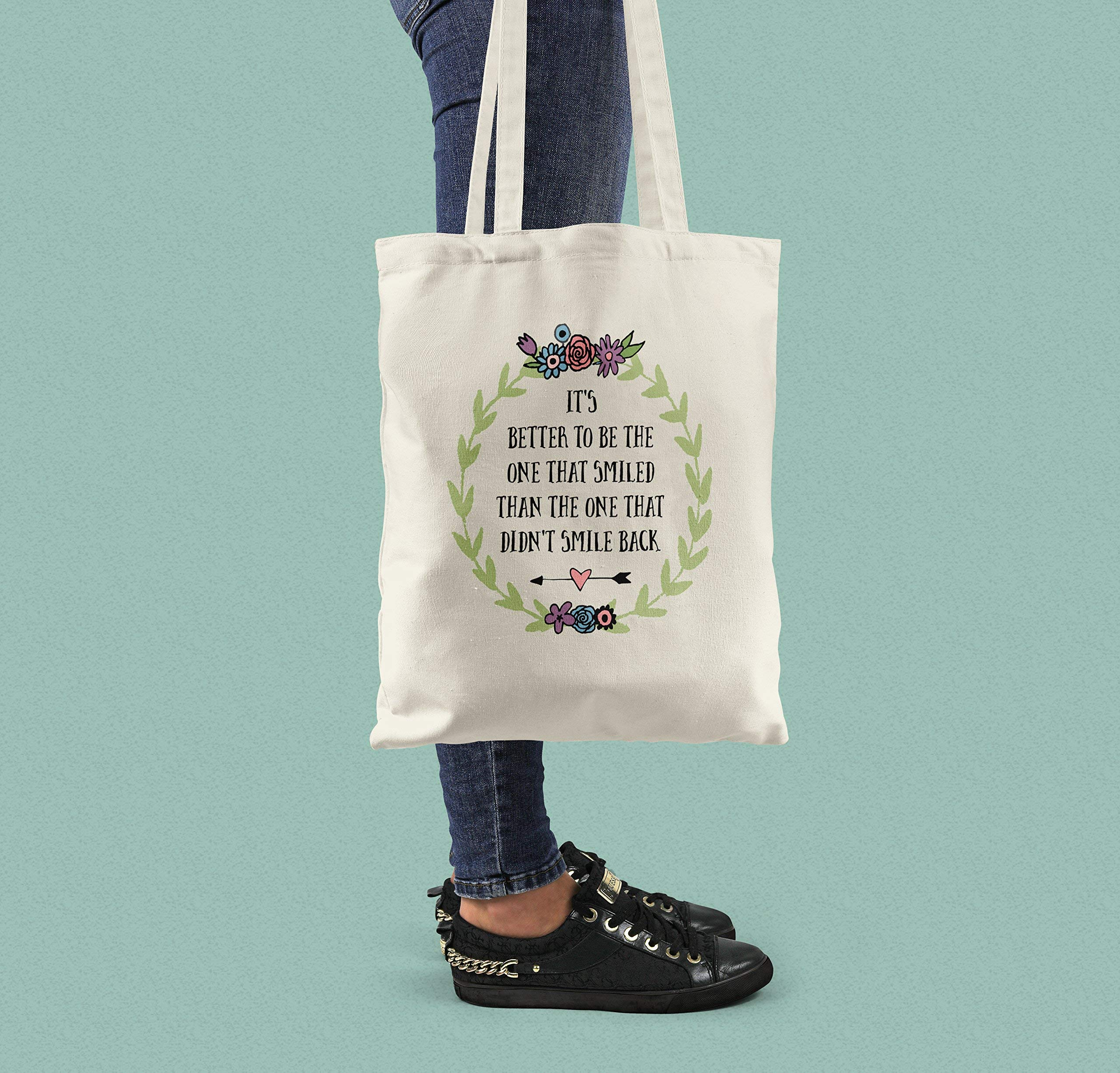 Canvas Shopping Bag For Happy People - Cotton Tote - handmade-bags