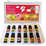 Parag Fragrances F&F (Flowers & Fruits) Essential Oils 12 in 1 Pack of Strawberry, Mango, Orange, Green Apple, Pineapple, Che
