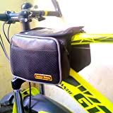 Golden Riders Bicycle Handlebar Frame Front Pannier Saddle Bag with Mobile Pouch.