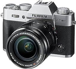 Fujifilm X-T20 Systemkamera mit XF18-55mm Objektiv Kit (Touch LCD 7,6cm (2,99 Zoll) Display, 24,3 Megapixel APS-C X-Trans CMOS III Sensor) silber
